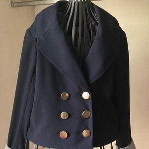 Women's cropped blue blazer